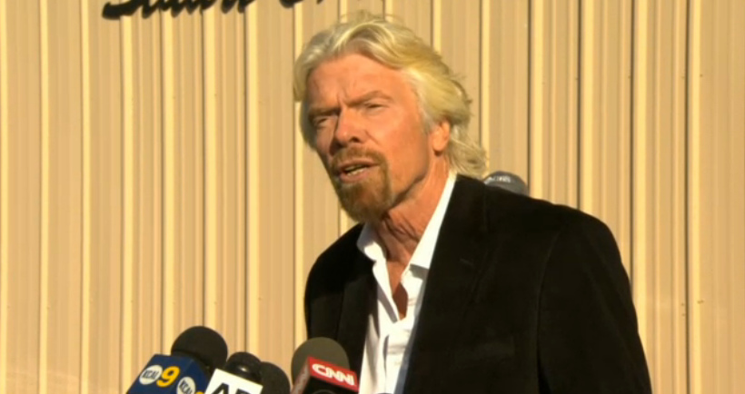 Richard Branson at Mojave Air Field